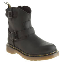Junior Black Dr Martens Lydia Engineer