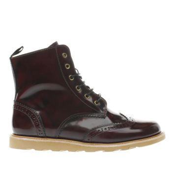 Young Soles Burgundy Sidney Unisex Junior