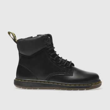 Dr Martens Black MALKY LACE Unisex Junior