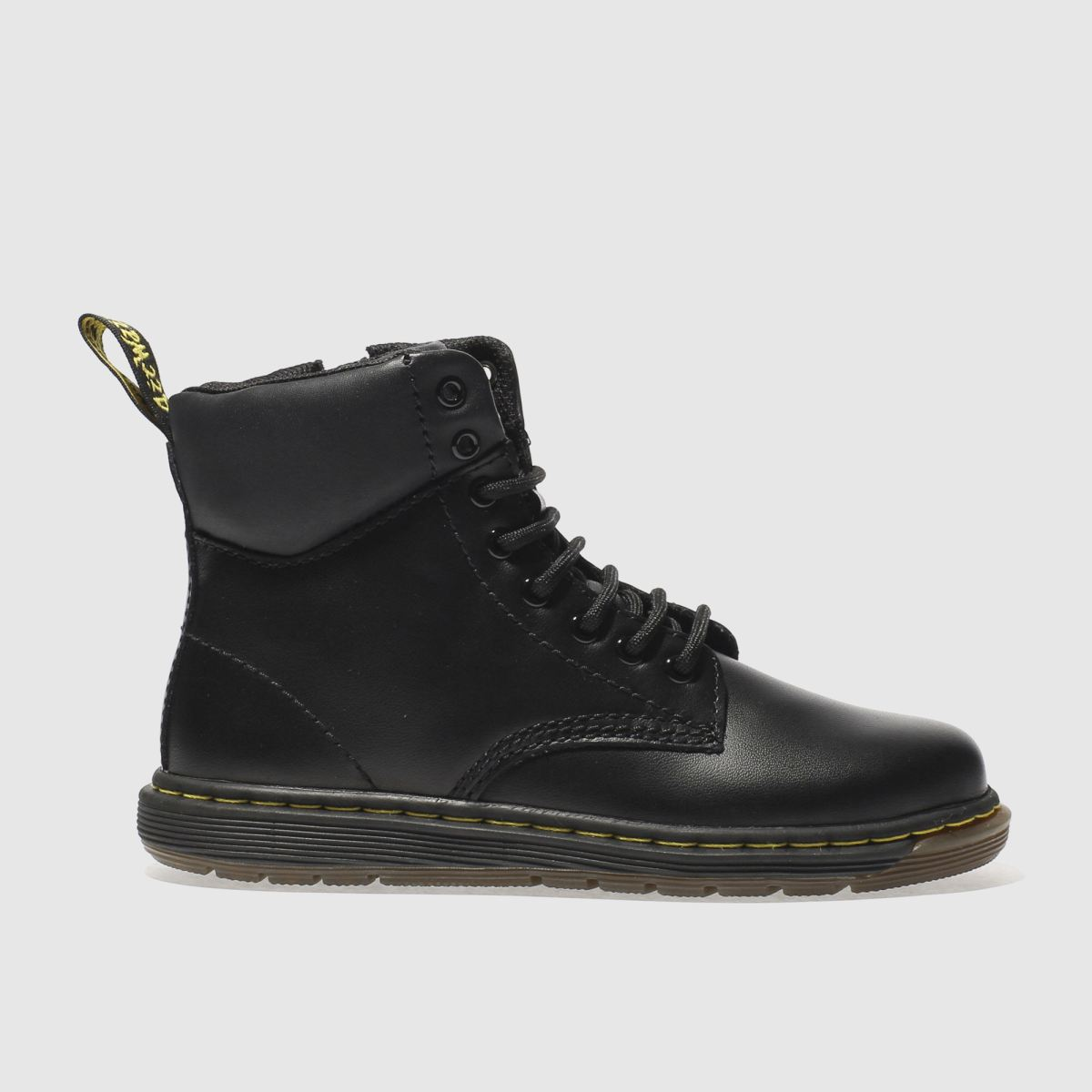 dr martens black malky lace Junior Boots