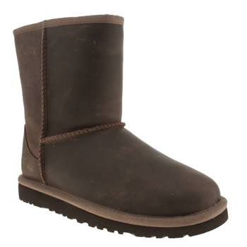 Ugg Australia Tan Classic Short Leather Unisex Junior
