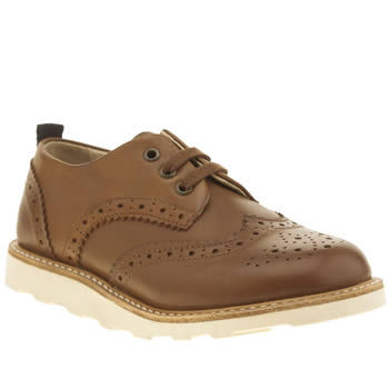 Young Soles Brown Brando Brogue Unisex Junior
