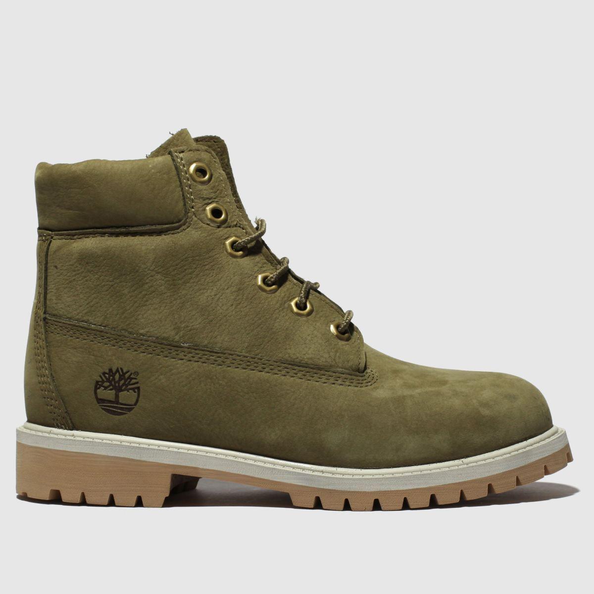 Timberland Khaki Inch Premium Boots Youth