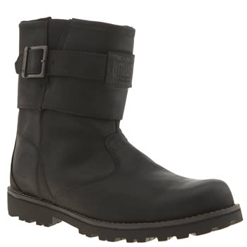 Timberland Black Biker Boot Unisex Youth