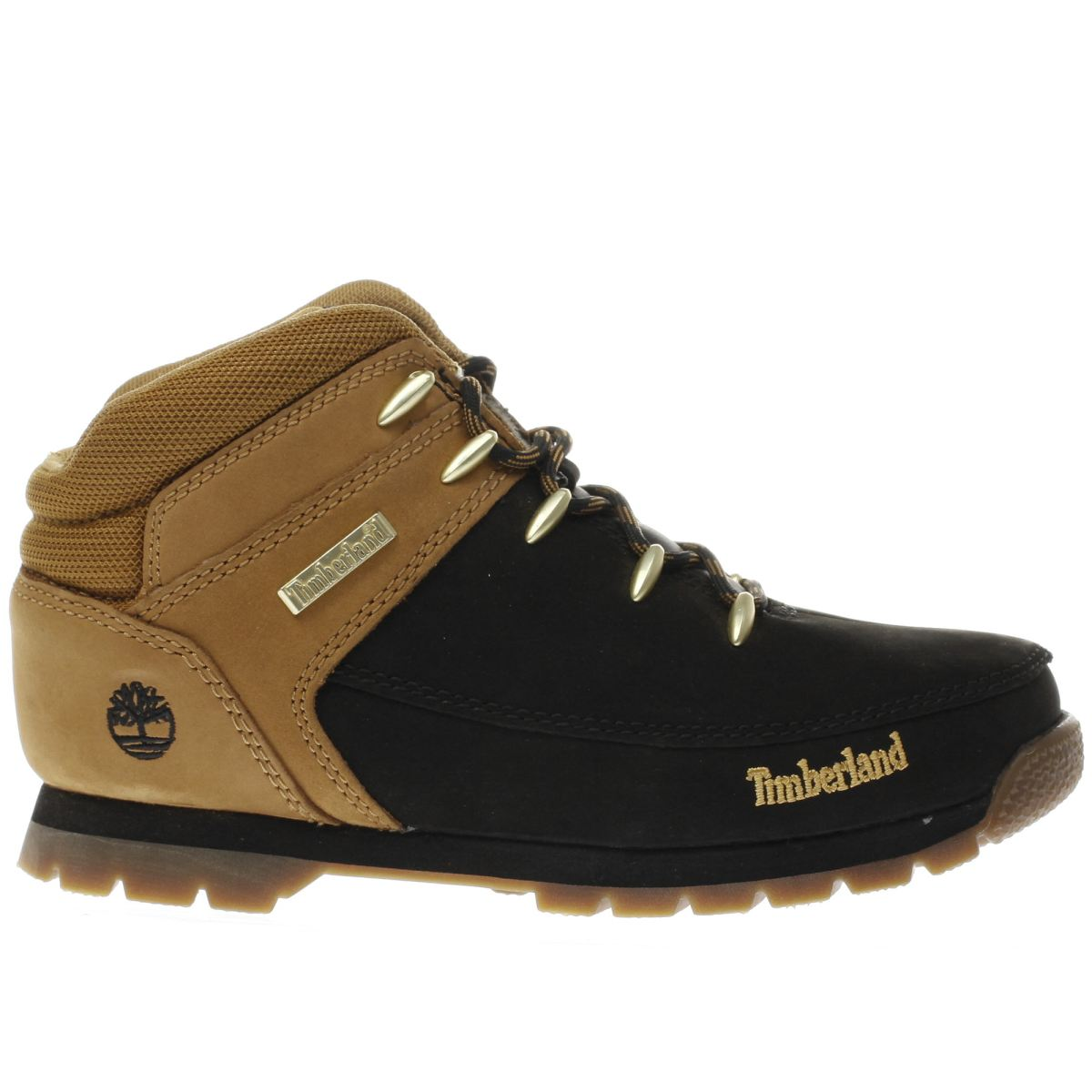 timberland black & tan eurosprint Youth Boots