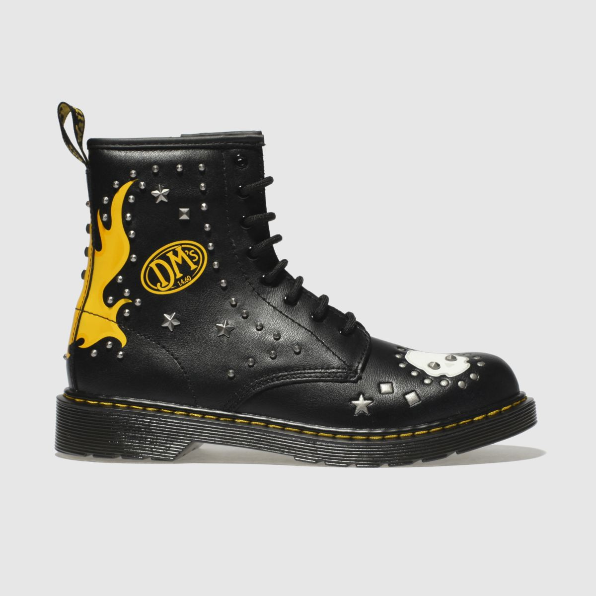 Dr Martens Black 1460 Patch+stud Unisex Youth Youth