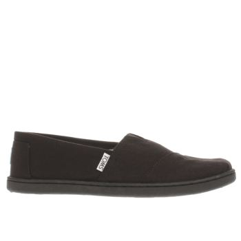 Toms Black Classic Unisex Youth