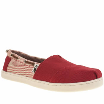 TOMS RED BIMINI YOUTH SHOES