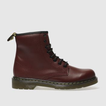 Dr Martens Red DELANEY LACE Unisex Youth