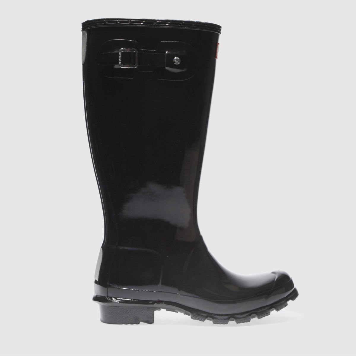 hunter black original gloss Boys Youth Boots