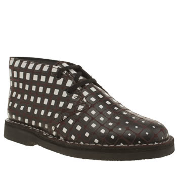 Clarks Originals Brown & Black Desert Boot V&a Unisex Youth