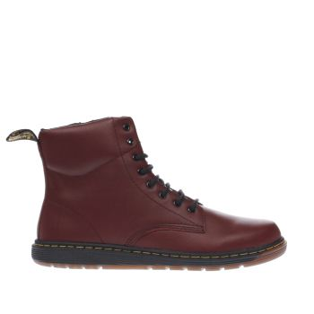 Dr Martens Burgundy Malky Lace Unisex Youth