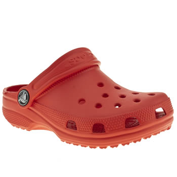 Unisex Crocs Red Classic Unisex Toddler