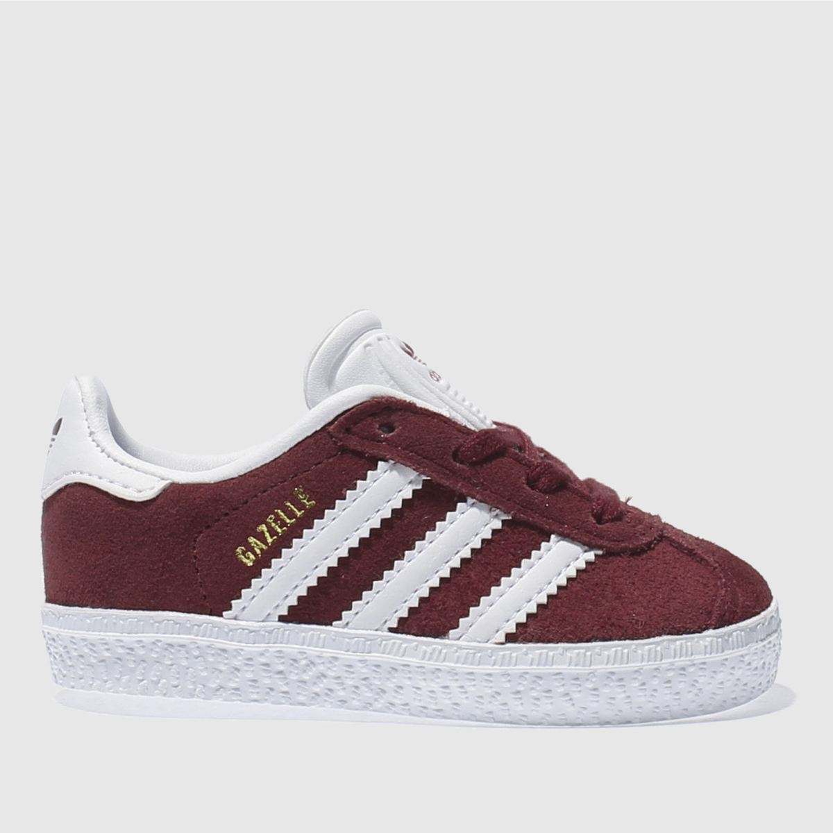 adidas burgundy gazelle Toddler Trainers