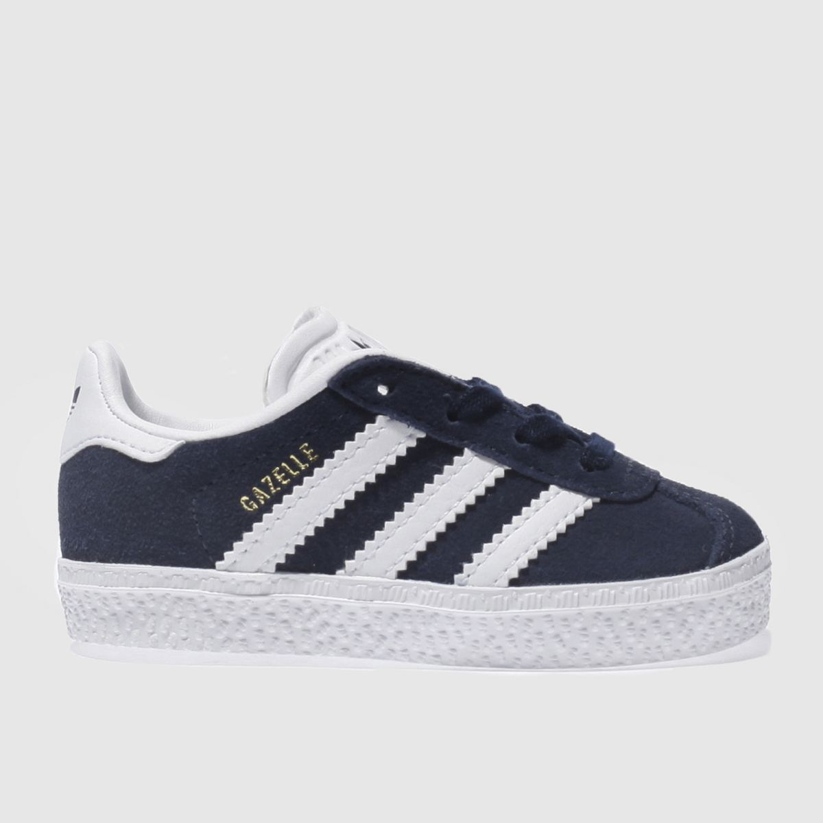 adidas navy & white gazelle Boys Toddler Trainers
