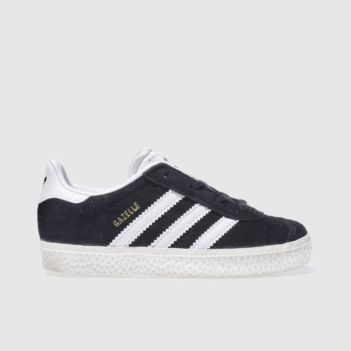 adidas black & white gazelle Toddler Trainers