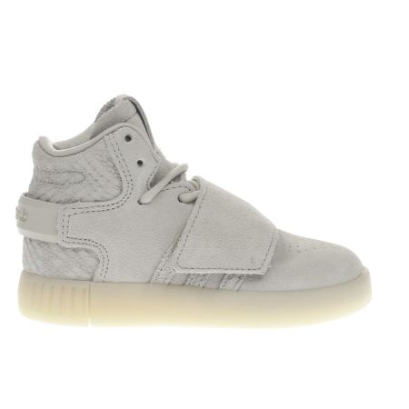 ADIDAS TUBULAR INVADER STRAP MENS SHOE WHITE / WHITE