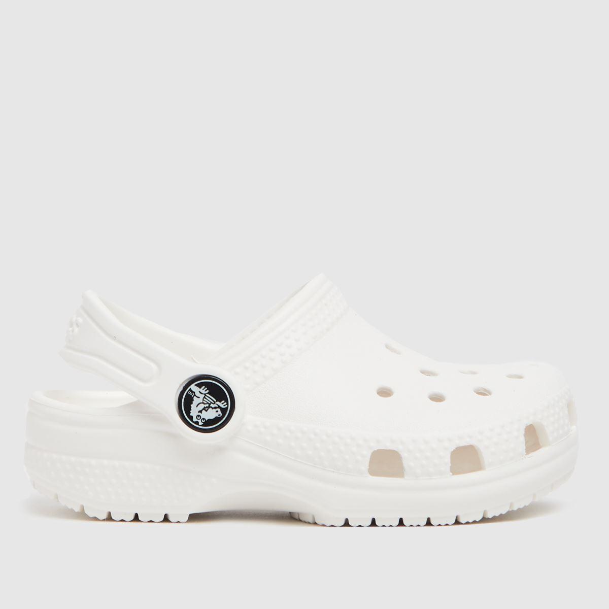 Crocs Crocs White Classic Clog Toddler Sandals