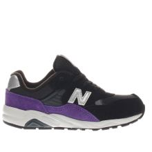 New Balance Black & Purple 580 Unisex Toddler