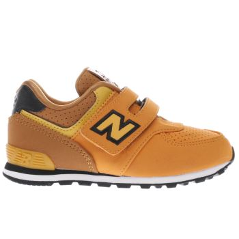 NEW BALANCE YELLOW 574 TODDLER TRAINERS