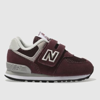 New Balance Burgundy 574 Unisex Toddler
