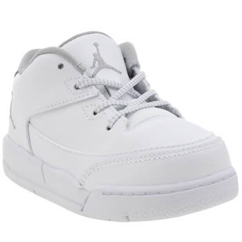 Nike Jordan White & Silver Flight Origin 3 Unisex Toddler