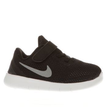 Nike Black & White Free Rn Unisex Toddler