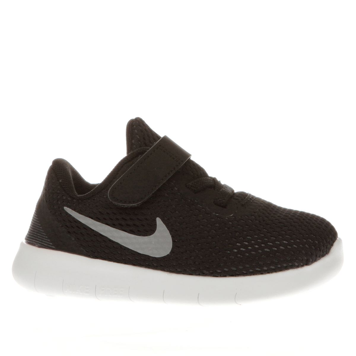 nike black & white free rn Toddler Trainers