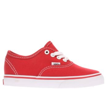 Unisex Vans Red Authentic Unisex Toddler