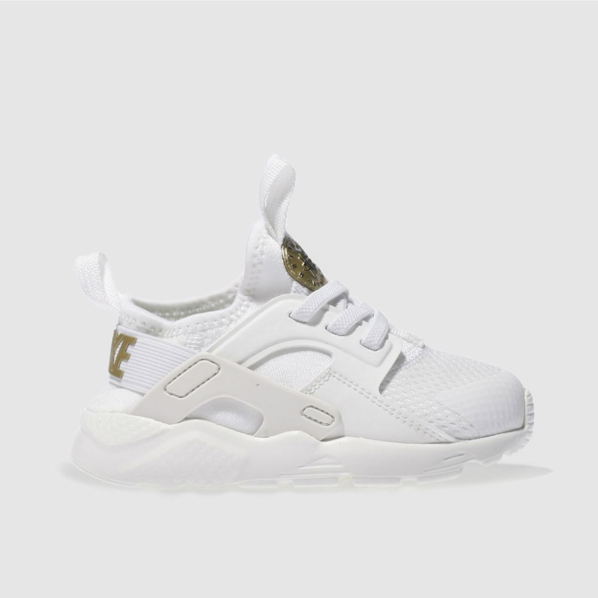 nike white & gold huarache ultra Toddler Trainers