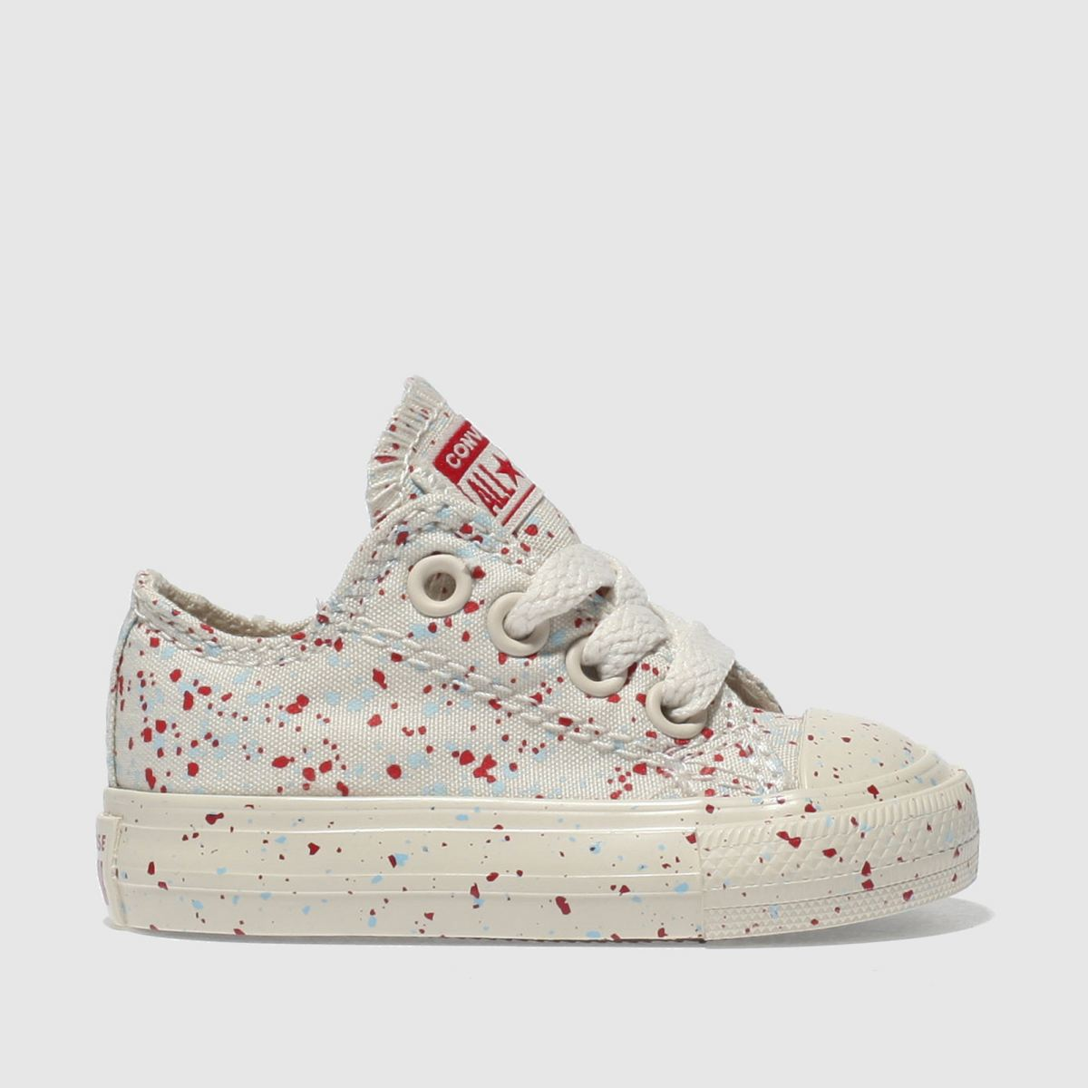 Converse Cream & Red All Star Lo Trainers Toddler