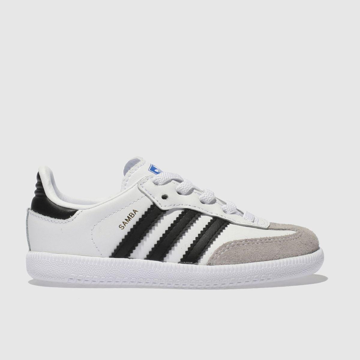 Adidas White & Black Samba Og El Unisex Toddler Toddler