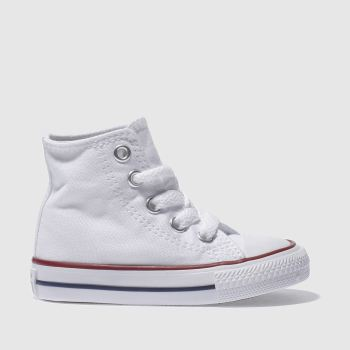 Unisex Converse White All Star Hi Unisex Toddler