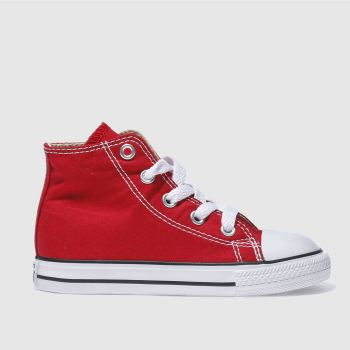 Unisex Converse Red All Star Hi Unisex Toddler