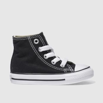 Unisex Converse Black All Star Hi Unisex Toddler