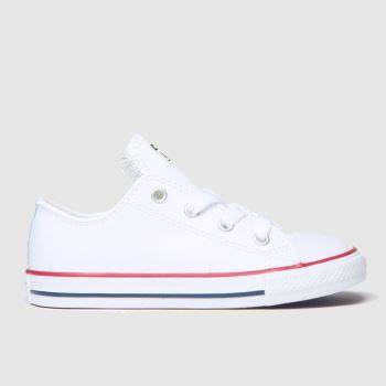 kids converse white & red all star oxford trainers
