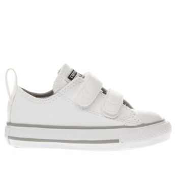 Converse White & grey All Star Ox 2v Unisex Toddler