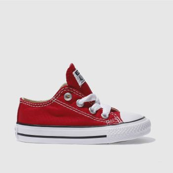 Unisex Converse Red All Star Lo Unisex Toddler