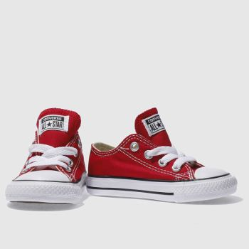 kids red converse