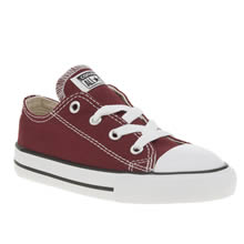 Converse Burgundy All Star Lo Unisex Toddler