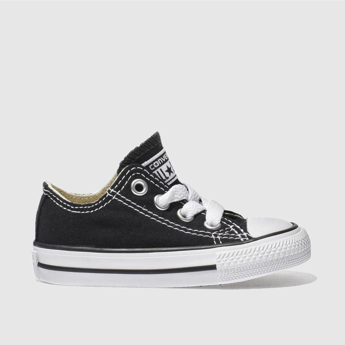 converse black all star lo Boys Toddler Trainers