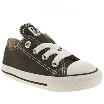 kids converse dark grey all star lo trainers