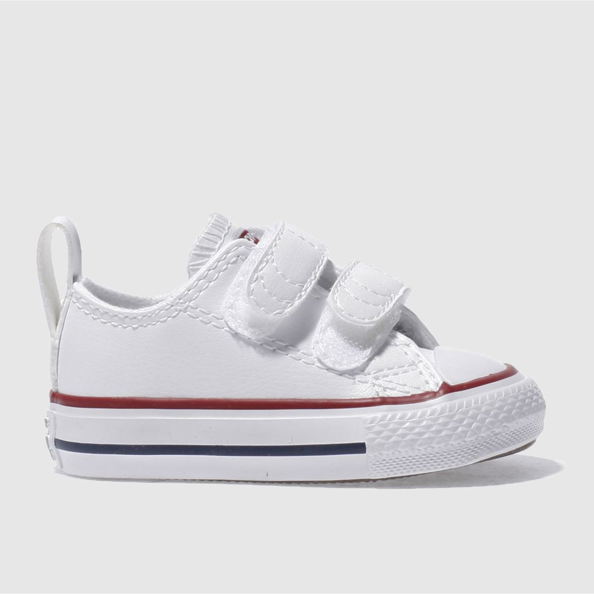 converse white & red all star 2v Toddler Trainers