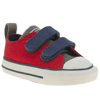 Unisex Converse Red All Star Oxford 2v Unisex Toddler