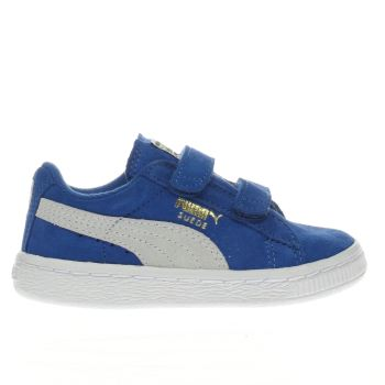 PUMA BLUE SUEDE CLASSIC BOYS TODDLER TRAINERS