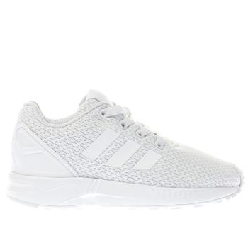 Unisex Adidas White Zx Flux Unisex Toddler
