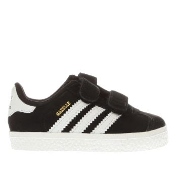 Unisex Adidas Black & White Gazelle 2 Unisex Toddler