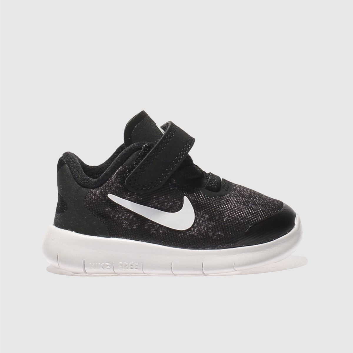Nike Black & White Free Run 2 Unisex Toddler Toddler