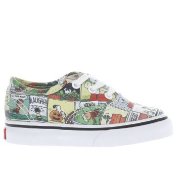 Vans Multi Authentic Peanuts Comic Unisex Toddler