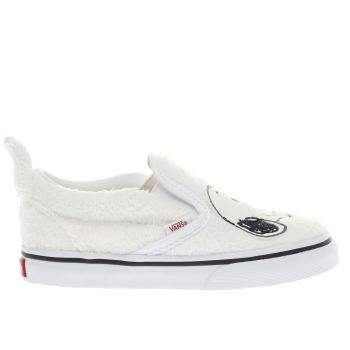 Vans White Slip-On Peanuts Snoopy Unisex Toddler